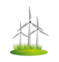 windmill turbine energy icon vector image