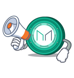 With megaphone maker coin character cartoon vector