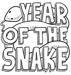 Year of the snake vector image