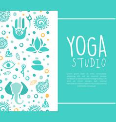 Yoga studio business card ayurveda traditional vector