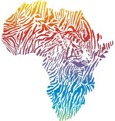 abstract Africa in a tiger camouflage vector image vector image