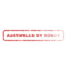 Assembled by robot rubber stamp vector