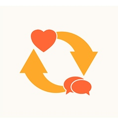 love cycle vector image vector image