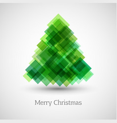 abstract christmas tree made of green squares vector image vector image