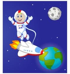 Astronaut cartoon vector