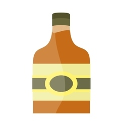 Bottle with alcohol in flat style design vector