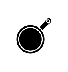 frying pan icon black sign vector image vector image