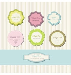 Label vintage set vector image
