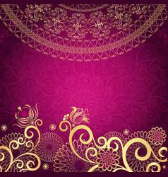 Vintage purple frame vector image vector image