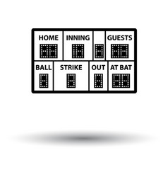 baseball scoreboard icon vector image