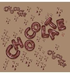 dark chocolate logo design 3d letters vector image vector image