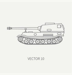 line flat plain icon self-propelled vector image