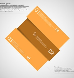 Rectangle motif askew divided to three orange vector image vector image