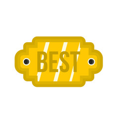 golden label with the best inscription icon vector image vector image