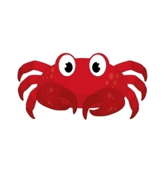 Marine crab cartoon vector image vector image