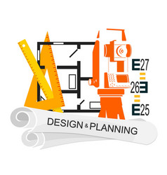 planing and design of housing symbol vector image