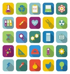 Science color icons with long shadow vector image vector image