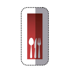 sticker red rectangle banner frame with vector image
