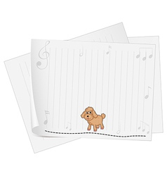 A blank paper with a dog vector image