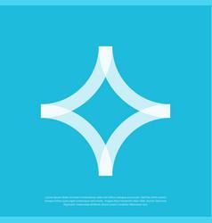 abstract logo mark simple minimalist vector image