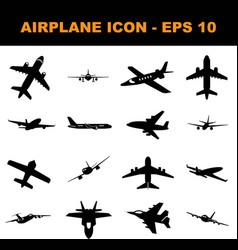 airppane icon set collection icon vector image
