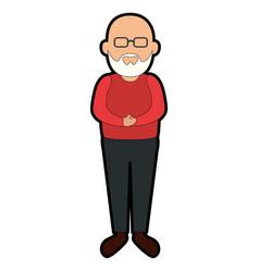 Avatar grandfather cartoon vector