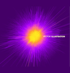 background with explosion starburst dynamic lines vector image
