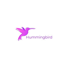 beautiful hummingbird logo icon vector image