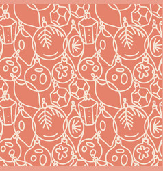 beautiful monochrome seamless pattern vector image