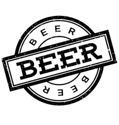 Beer rubber stamp vector image