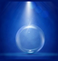 big bubble with stage illumination vector image vector image