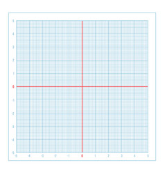 Blue metric graph paper with coordinate vector