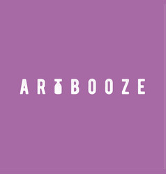 Booze abstract art vintage scratched design style vector