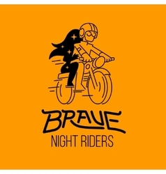 Brave night riders vector