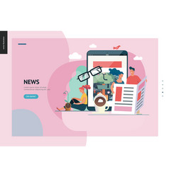 Business series - news or articles web template vector