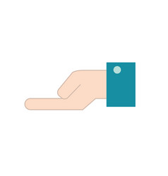 Businessman hand with palm and fingers design vector