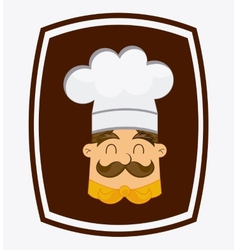 Chef head vector
