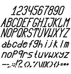 Chopped bold italic font vector