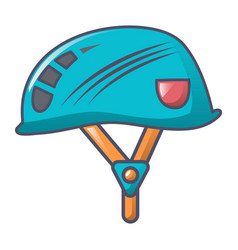 climb helmet icon cartoon style vector image