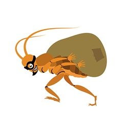 Cockroach thief vector