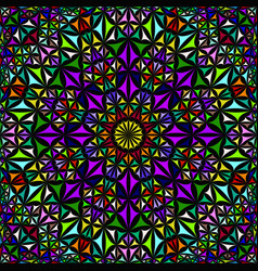 Colorful repeating kaleidoscope pattern background vector