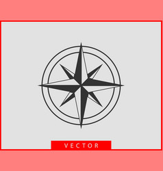 Compass icon wind rose star navigation vector