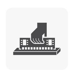 computer testing icon vector image