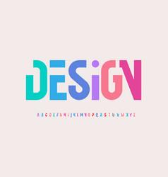 Creative alphabet rainbow colors modern vector