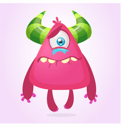 crying upset monster cartoon vector image