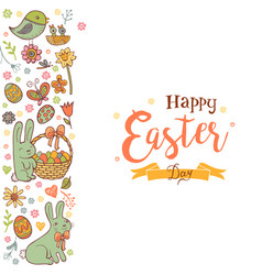 cute easter background vector image