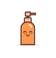 Cute pump plastic bottle cartoon comic character vector