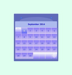 Design schedule monthly september 2014 calendar vector