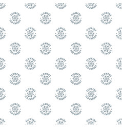 eco flower pattern seamless vector image