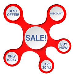 elegant sale advertising concept vector image